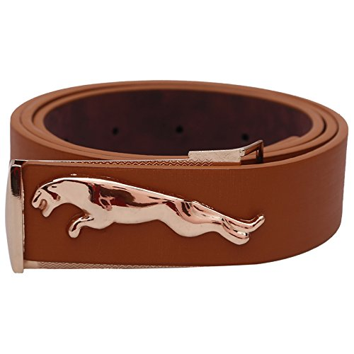 Stylehoops Brown Jaguar Buckle Belt For Men  available at amazon for Rs.509