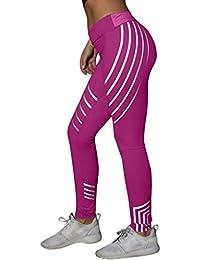 Leggings per il fitness Yoga da donna KOLY Pantalone sportivo da running elasticizzato da palestra Maglia Eleganti Sport Yoga Fitness Spandex Palestra Pantaloni Leggins Pantaloni Tuta