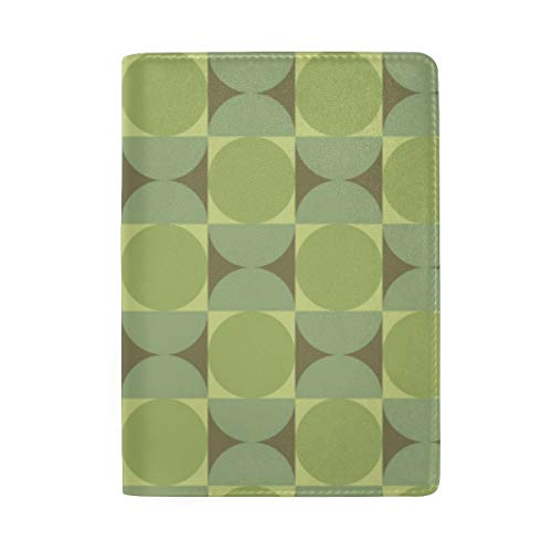 Retro Petite Reverb Tambourine Green Passport Holder Wallet Cover Case Leather Travel Wallet ID Card Case