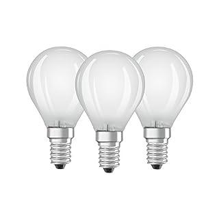 Osram LED-Lampe | Sockel E14 |Warm White (2700 K) | ersetzt Glühlampen mit 40 W | 4,00 W | Matt | LED BASE CLASSIC P