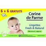 Corine de Farme Jumbo Pack de 12 Paquets de Lingettes Change Parfumées x 62 6
