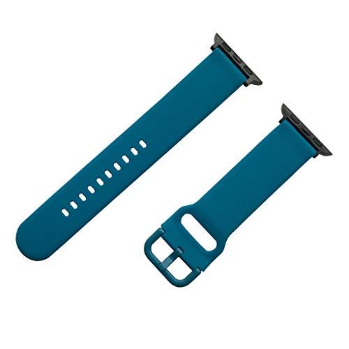 Feinny Smart Bracelet Uhren Armband Lederband/Mode Neue Weiche Silikon Material Einstellbare Smart Sportuhr Ersatz Gürtel/Für Apple Watch 4/3/2/1 Serie (38MM / 40MM)