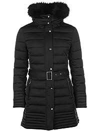 Firetrap Womens Long Luxury Bubble Jacket Padded Hooded Zip