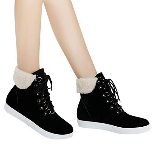 TianWlio Frauen Herbst Winter Stiefel Schuhe Stiefeletten Boots Warme Schuhe Beiläufig Keile Boots...