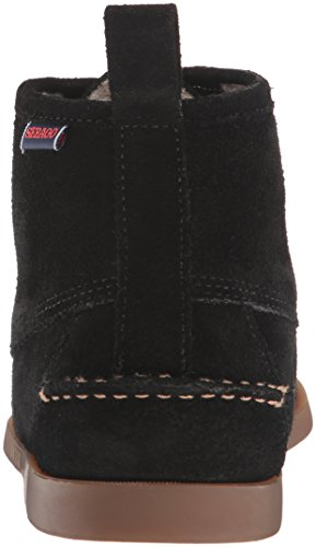 Sebago Men's Beacon Shearling Ankle Bootie Black Suede