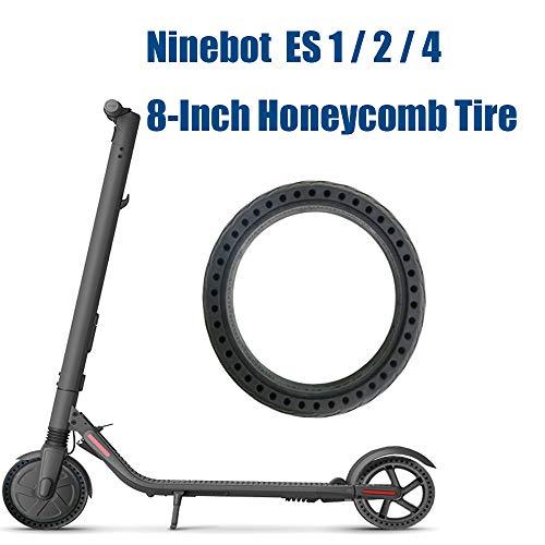 Konesky Neumático de Scooter de 8 Pulgadas, 1pc Scooter Electrico Neumático de Rueda de Panal A Prueba de Explosiones Sin Cámara Neumáticos de Repuesto Compatible con Ninebot Scooter ES1 ES2 ES4