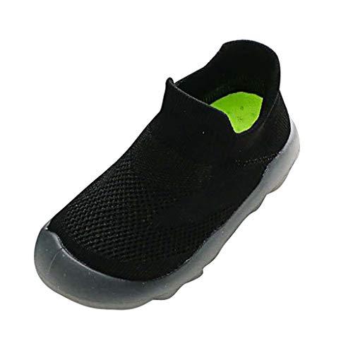 Mitlfuny Abstand Unisex-Kinder Sneakers Mode Blinkschuhe Low-Top Casual Outdoor Jungen Mädchen,Mädchen Jungen Reine Farbe Nettes Kleinkind Kleinkind Kleine Kinder Gestrickte Atmungsaktive Schuhe -