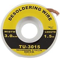 Vvciic 5 ft. 3 mm fundente Flux eléctrica de cobre desoldadura Solder Wire