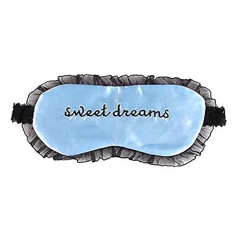 eleery confortable Masque en satin de soie Tutu Masque de sommeil Eye personnalisée pour