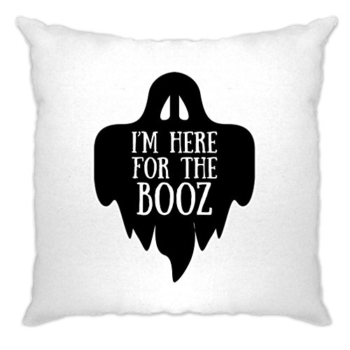 lustige Halloween Kissenhülle Ich bin hier für den Booz-Witz White One Size