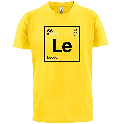 Leo Periodensystem - Herren T-Shirt - 13 Farben Gelb