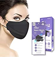 Air Queen BLACK Nanofiber Mask, FDA Approved, Ultra Thin, and Lightweight, Individually Packaged, Face Masks M