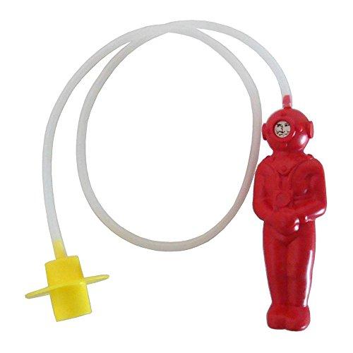 Preisvergleich Produktbild Der kleine Tiefseetaucher in rot Größe: ca. 14 cm aus Kunststoff DDR-Badewannen-Spielzeug