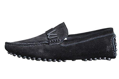 Versace Jeans Basket E0 Yrbsf2 Mocassin 899 Suede Noir - Taille 43 - Couleur Noir