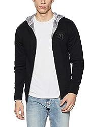 Pepe Jeans Mens Regular Fit Jacket (8907557338476_PIMT200860_Black_Large)