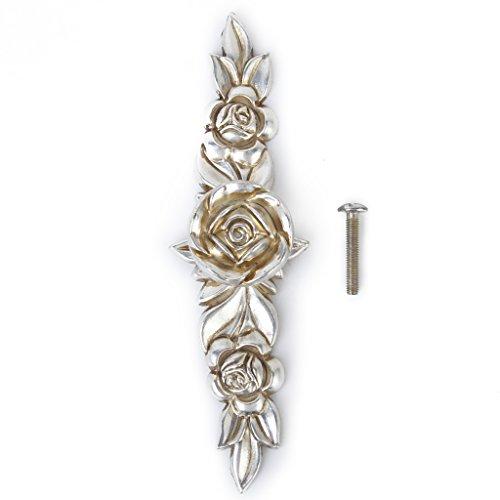 Antike Silberne Rose Schublade Moebel Tuerknopf Griff Ziehen Zugknopf Moebelgriff Schrankgriff Hardware 146mm