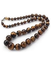 Natural Tiger Eye Gemstone Necklace Length 48cm/19