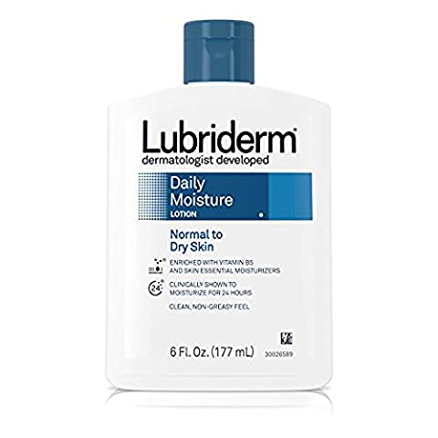 Lubriderm Daily Moisture Lotion for Normal to Dry Skin, Skin Therapy - Fresh Scent 6 fl oz (177 ml) (Lotionen)
