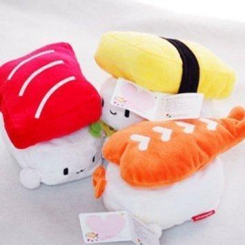 NWT Sushi 6(15cm) Süße Plüsch Kissen Puppe X3Set Spielzeug Geschenk Betten Raum Dekoration kawaii Ei, Garnelen, Thunfisch -