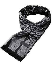 ANAZOZ Viscosa Bufanda para Mujer Niña Jacquard Negro 180cm Otoño Invierno Bufandas ...