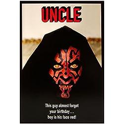 """Hallmark Geburtstagskarte, für Onkel von Star Wars """"Darth Maul–Medium"""