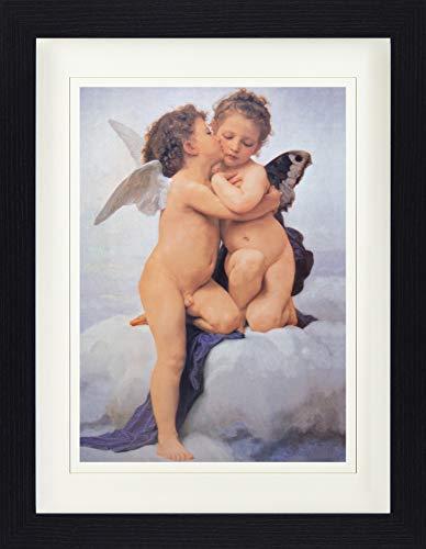 1art1 William-Adolphe Bouguereau - Der Erste Kuss, 1882 Gerahmtes Poster Für Fans Und Sammler 40 x 30 cm