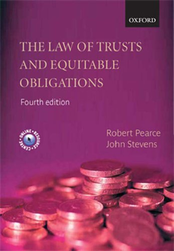 The Law of Trusts and Equitable Obligations by Robert Pearce (2006-07-20)
