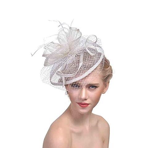Women Hair Accessories Mesh Net Cocktail Fashion Sinamay Fascinator Hat
