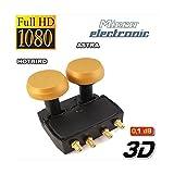 MICRO GOLD LNB Monobloc Quad 6° ASTRA HOTBIRD Double Tête 4 Sorties Full HD 4K