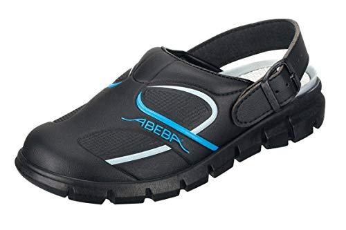 Abeba Clog 7331 - Dynamic Mikrofaser, schwarz/blau zertifiziert - Koch Schuhe-clogs