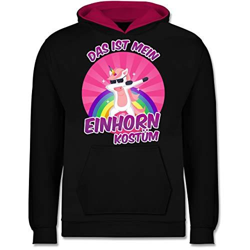 Shirtracer Karneval & Fasching Kinder - Das ist Mein Einhorn Kostüm - 9-11 Jahre (140) - Schwarz/Fuchsia - JH003K - Kinder Kontrast ()
