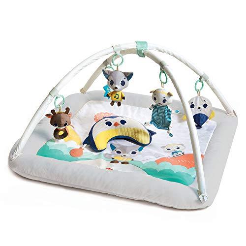 Tiny Love Plush Gymini - Polar Wonders, kuschelig-weiche Spieldecke, Krabbeldecke mit Spielbogen und Plüschrändern, mit Musik- und Lichspielzeug, geeignet ab der Geburt (0+ M), mehrfarbig