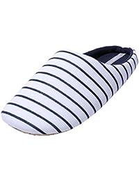 WILLIAM&KATE Estilo japonés Streak para las mujeres en verano Casual antideslizante zapatillas de piso interior zapatilla