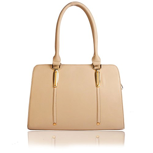 Whiteflower Women's Beige Handbag (WF0112)