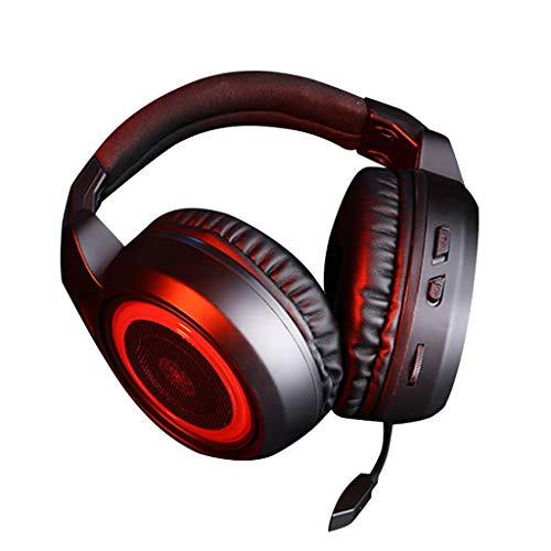 Wokee In Ear Kopfhörer mit Mikrofon und Volumen Steuerung 3.5mm,Spiel Computer Stereo Kopfhörer für Meisten Smartphones Mp3 Players (Rot) Mobile-traveller-bluetooth-headset