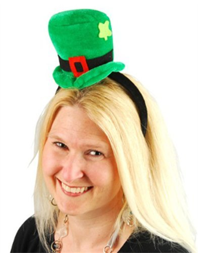Green St. Patrick's Day Leprechaun Mini-Top Hat On Head Band