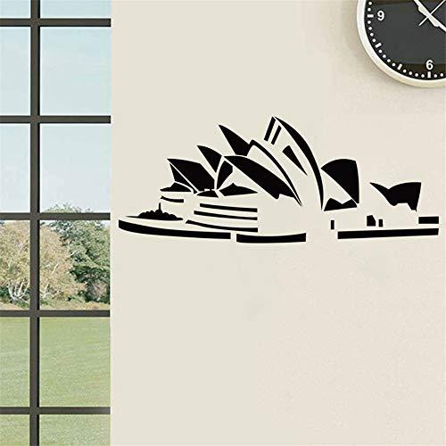 (Cchpfcc Sydney Opera House Aufkleber Australien Weltberühmte Architektur Home Dekoration Vinyl Kunst Wandbild Wandtattoo Wandaufkleber Size80 * 60Cm)
