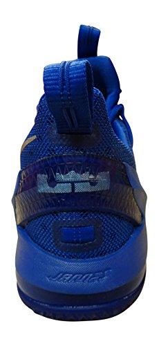 Nike  Lebron Xiii Low, espadrilles de basket-ball homme Azul (Game Royal / Metallic Silver-Black)