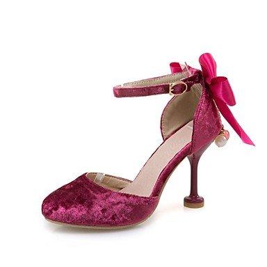 LvYuan Da donna-Sandali-Matrimonio Formale Serata e festa-D'Orsay Club Shoes Comoda-A stiletto-Felpato-Rosa Rosso Beige Pink