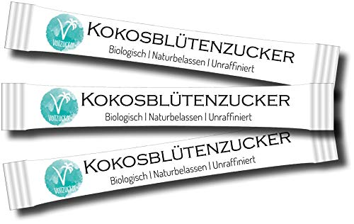 Kräuterladen Bio Kokosblütenzuckersticks - 250 x Zuckersticks (1 = 4g)