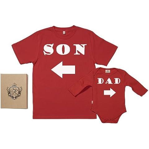 Spoilt Rotten - Son & Dad Arrow - 100% Bio-algodón - Papá y bebé caja de regalo Set