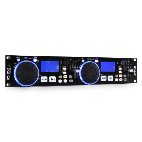 Ibiza IDJ2 DJ-Set, Schwarz - Dj-mp3-player