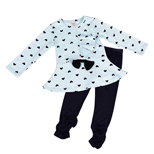 patgoal Bambina Vestiti Cuore Stampato Manica Lunga Top Pantaloni Outfits