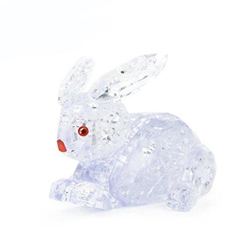 k Kristall Puzzle Niedlichen Kaninchen Modell DIY Gadget Blöcke Gebäude (White) (Alte Dame Kostüm Diy)