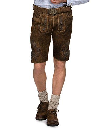 Stockerpoint Herren Trachten Lederhose Hose Aron Braun (Biber Blau), (Bayerische Amazon Kostüm)