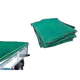 DWT-Germany Anhängernetz Abdeckung hoch reißfest 160 x 250cm - Gepäcknetz, zur Ladungssicherung - Farbe: grün - Containernetz, Sicherungsnetz, Ladungssicherungsnetz