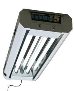 Lightwave T5 Hydroponic / Aquarium / Reptile flourescent Lighting unit. 2ft 2 tube 48W 3,300 Lumens