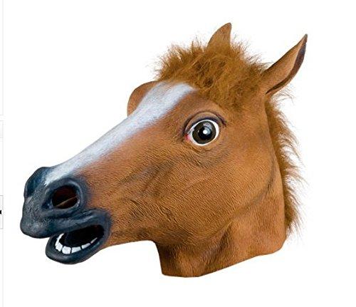 thematys Pferd Horse Maske - perfekt für Fasching, Karneval & Halloween - Kostüm für Erwachsene - Latex, Unisex ()