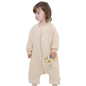 Happy Cherry Bebé Saco de Dormir con Piernas Separables Sleepwear Mangas Algodón para Bebé 0-4 Años Primavera Otoño Invierno