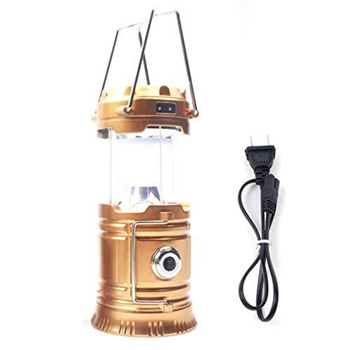 CHANNIKO-ES Portátil y Mini portátil de Mano o Colgante USB Recargable LED Linterna para Camping Linterna Solar Linterna de Emergencia